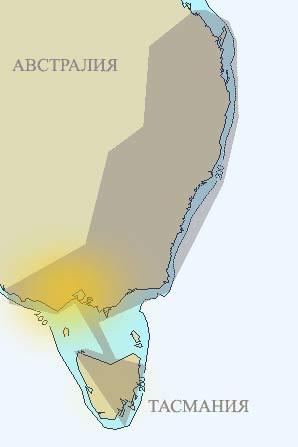 Австралия. Схема первого транс-антиподского маршрута. Виктория.