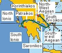 Карта погодных регионов маршрута