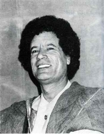 Муаммар Каддафи. Фото из советского издания «Зелёной Книги»