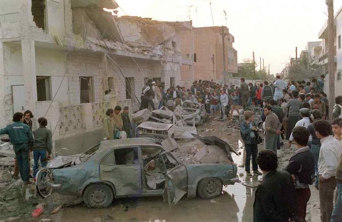 Последствия бомбардировки Ливии американскими варварами в 1986 году