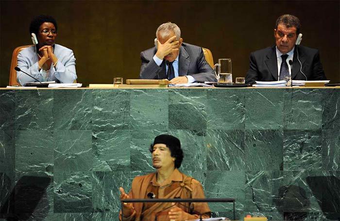 Речь Муаммара Каддафи на 64-й сессии Генассамблеи ООН в 2009 году