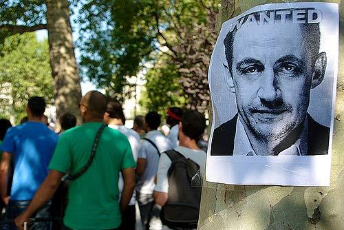 Военный преступник главарь французского режима Колян Саркози