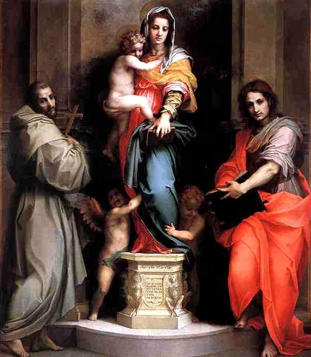 Андреа дель Сатро Мадонна с гарпиями 1517 г. Уффицы