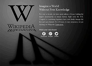 Википедия (Wikipedia). Минута молчания.