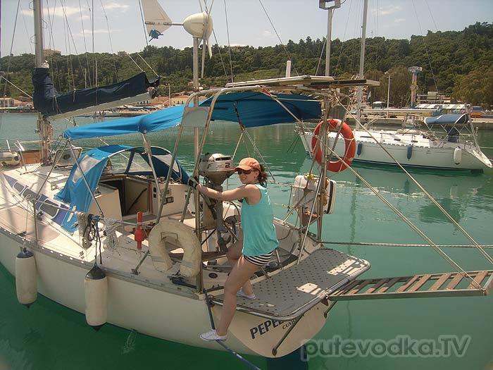 Греция. Илиа. Катаколо. Яхта Пепелац. Первые уроки швартовки.