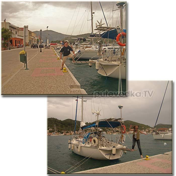 Итака. Порт Вафи (Vathi). Первый шаг на землю Одиссея.