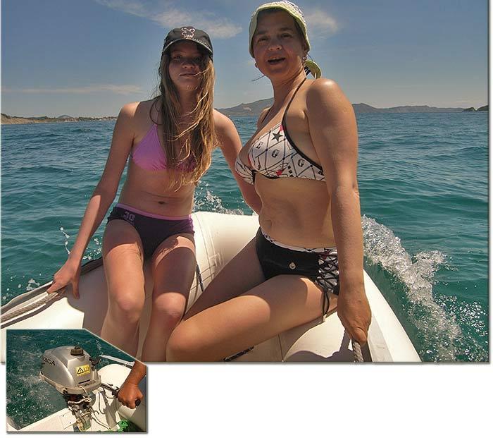 Греция. Ионическое море. Яхта ПЕПЕЛАЦ. Новый тузик и две ростры.