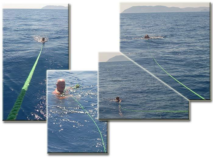 Греция. Ионическое море. Яхта ПЕПЕЛАЦ. На веревке.