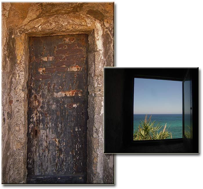 Строфады. Южный остров Стамфани. Преображенский монастырь. Двери и окна.