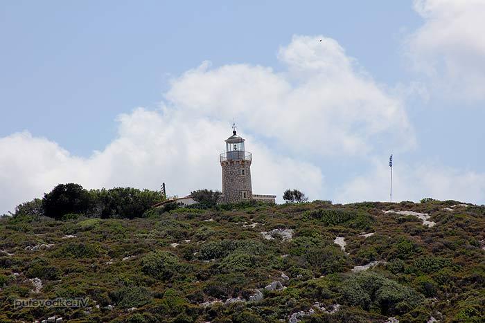 25.07.2012. Греция. Ионическое море. Остров Закинтос. Маяк мыса Скинари.