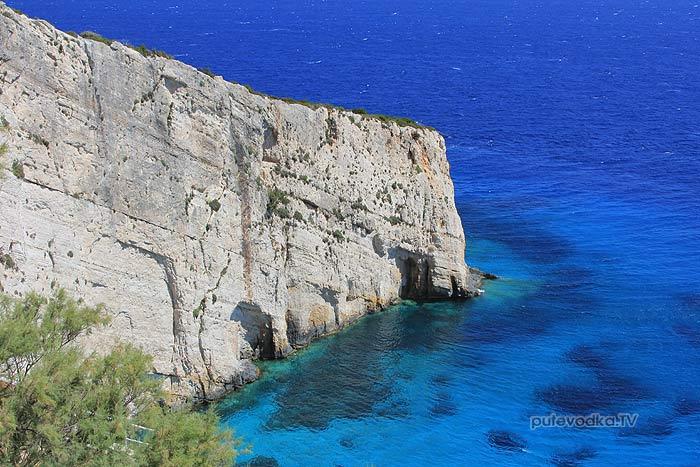 26.07.2012. Греция. Ионическое море. Остров Закинтос. Голубые пещеры.