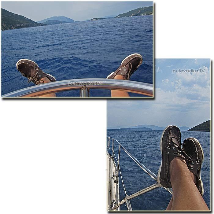 Греция. Ионическое море. Пролив Меганиси (Meganisi steno).