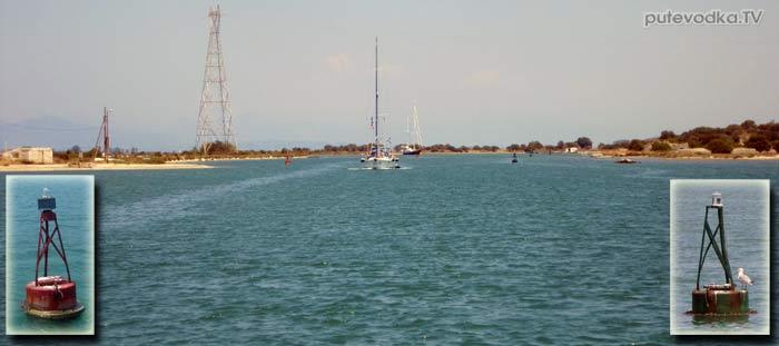 Греция. Ионическое море. Канал Лефкас (Lefkas)