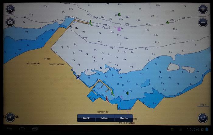 Морское программное обеспечение GPS для планшетов Navionics