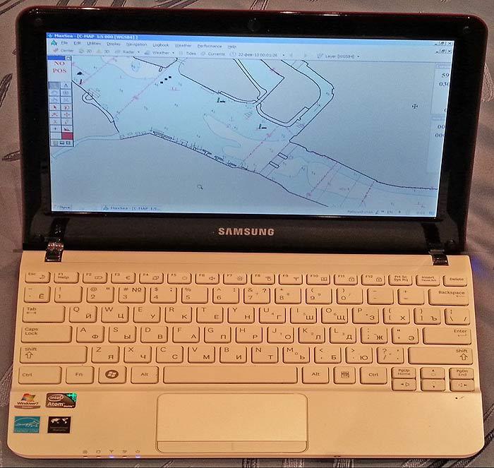 Ноутбук, как серверная часть морской навигационной системы GPS— Картплоттер— удалённый терминал