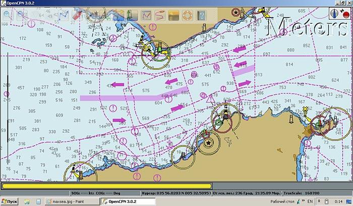 Open Source морское навигационное программное обеспечение OpenCPN (Windows, Linux, Mac OS)