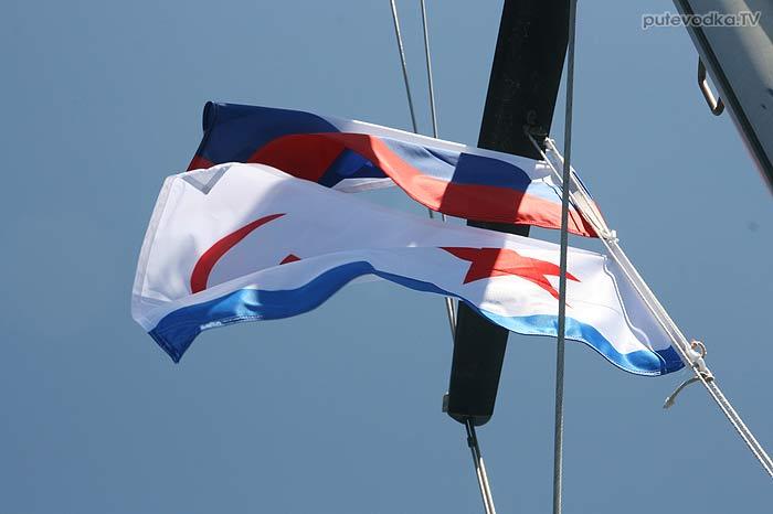 9 мая 2013 года. День Победы. Яхта Пепелац. Подъём флага ВМФ СССР.