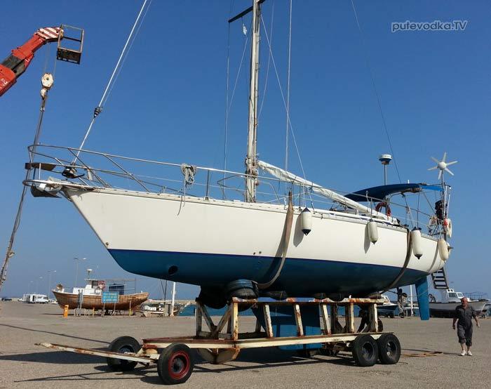 <h2>Jeanneau SunFizz 40 Пепелац (реконструкция 2013 г). На берегу.</h2>