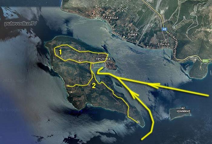 Греция. Залив Коринфиакос. О.Тризония.