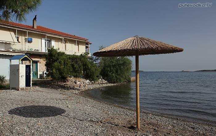 Греция. Фокида. Итеа. Пляж.