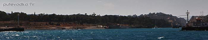 Греция. Западный вход в Коринфский канал.