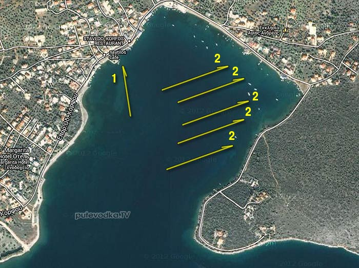 Греция. Пелопоннес. Залив Корфос.