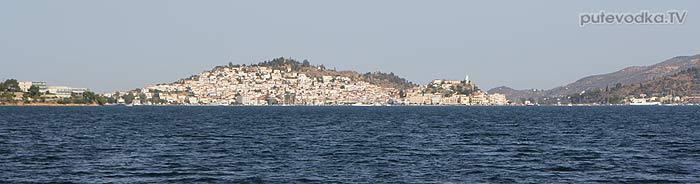 Греция. Залив Сароники. Остров Порос. Яхтенный подход с запада.