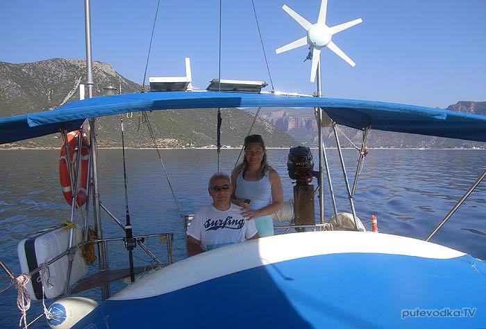 Греция. Яхта Пепелац. Пано и Лиля.