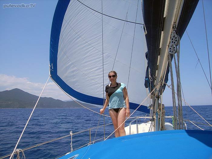 Греция. Яхта Пепелац. Залив Фокианос— Леонидио. Парус.