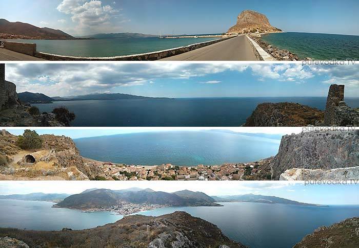 Греция. Пелопоннес. Монемвасия (Моневасия). Панорама острова.
