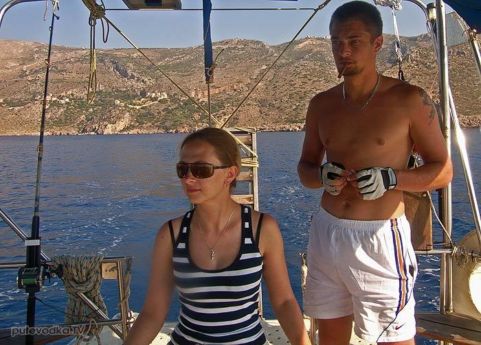 Греция. Пелопоннес. Яхта Пепелац. Выходим из порта Кайо.