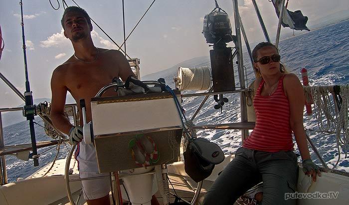 Яхта Пепелац. На курсе.