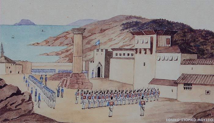 Кёлнберг. Военный парад в Метони. 1834 г.