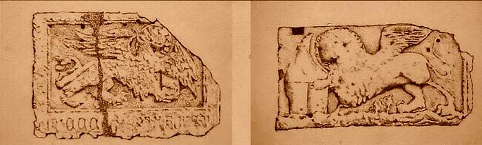 Львы св.Марка, там и сям выбитые на сооружениях Армейской площади.