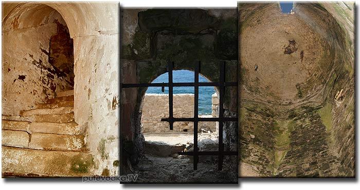 Греция. Пелопоннес. Замок-крепость Метони. Турецкая башня.