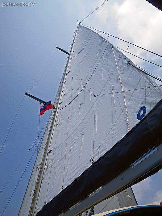 Греция. Пелопоннес. Южное Ионическое море. Яхта Пепелац в пути.