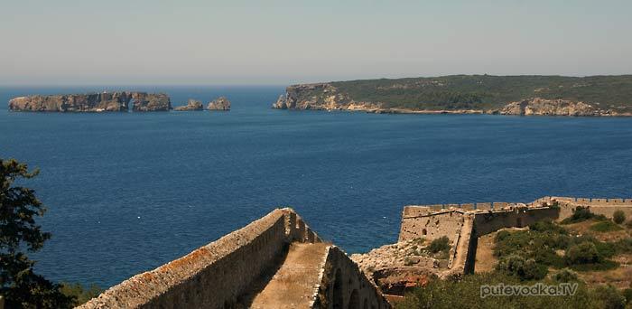 Греция. Пелопоннес. Мессения. Наваринская бухта. Пилос. Новая крепость Ньокастро.