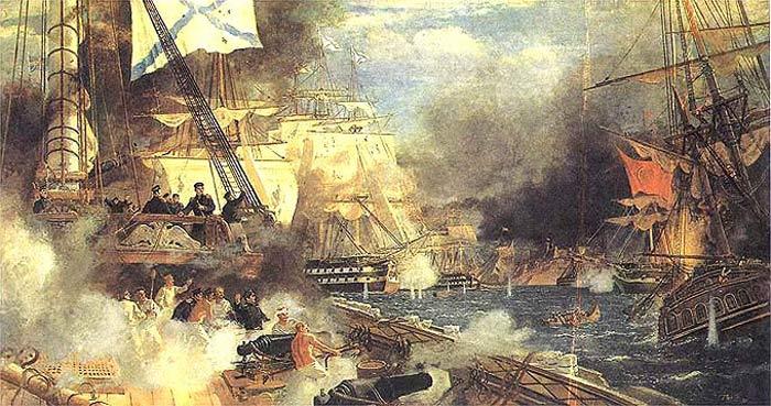 С.Пен. Наваринский бой 8 октября 1827 г.