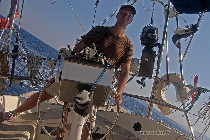 2013. Греция. Пелопоннес. Яхта «Пепелац». Парус.