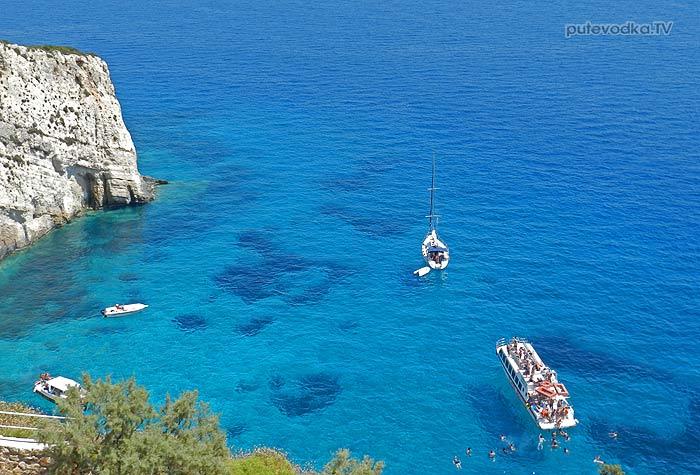 2013. Греция. Ионическое море. Яхта «Пепелац». О-в Закинтос. Голубые пещеры.