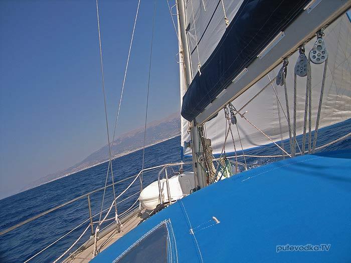 2013. Греция. Патрасский залив. Яхта «Пепелац». Парус.