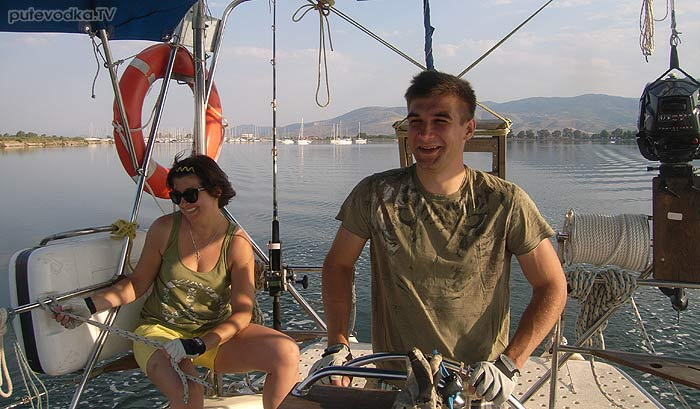 Яхта Пепелац. Греция. Ионическое море. Месолонги— Пера Пигати.