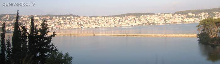 Яхта Пепелац. Греция. Ионическое море. Кефалония. Автодорога Св.Ефимия— Аргостоли.