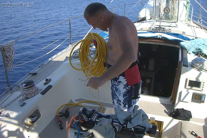 Яхта Пепелац. Греция. Ионическое море. Пера Пигати.