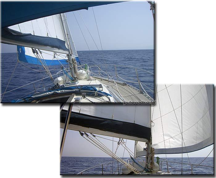 Яхта Пепелац. Греция. Ионическое море. Кефалония— Закинтос. Парус.
