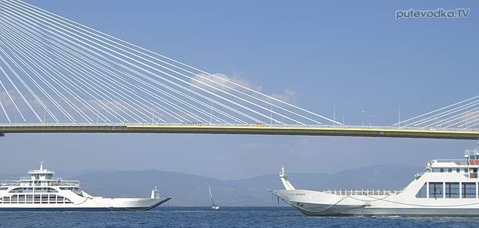 Яхта Пепелац. Греция. Коринфский и Патрасский заливы. Патрасский мост Рион— Антирион.