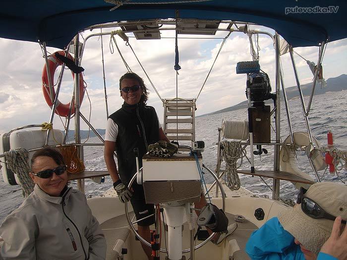Греция. Ионическое море. Остров Лефкас. Яхта ПЕПЕЛАЦ. Парус Лефкас— Нидри.