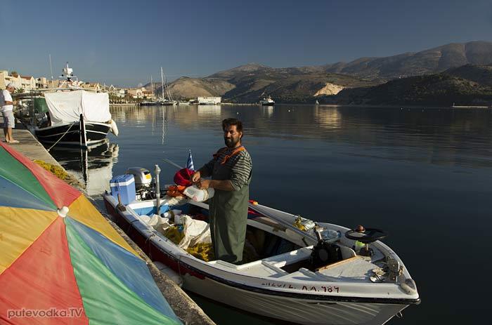 Греция. Ионическое море. О-в Кефалония. Аргостоли.