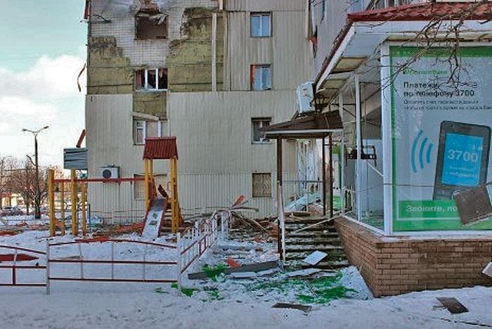 Донецк. 13 января 2015 г. Улица Артема.
