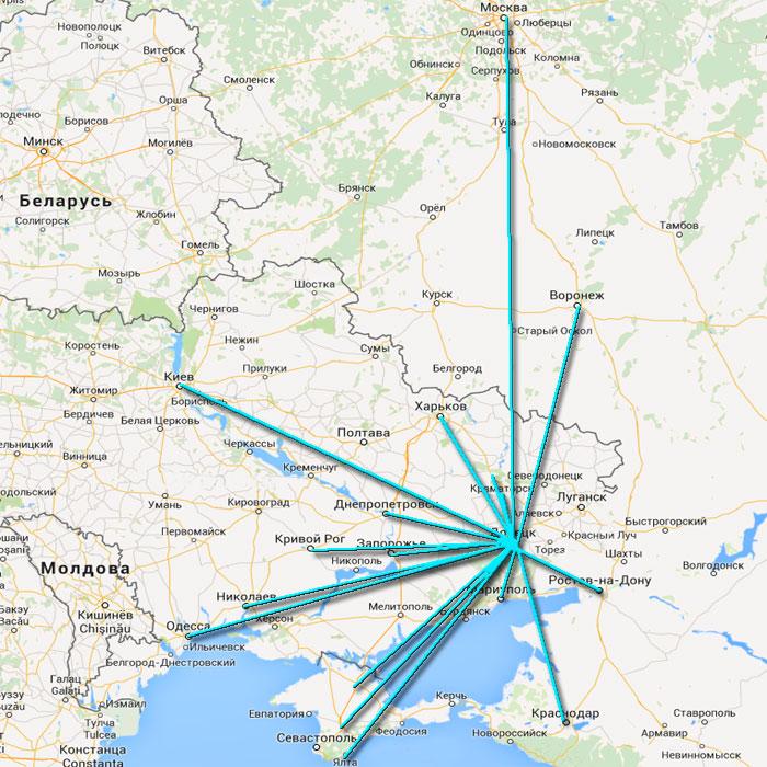 Пассажирские перевозки из ДНР (Донецкой обл.) и обратно